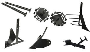 комплект насадок для FJ500 (грунтозацепы, удлинитель, плуг, картофелевыкапыватель, окучник, сцепка) в Гаврилов-Яме